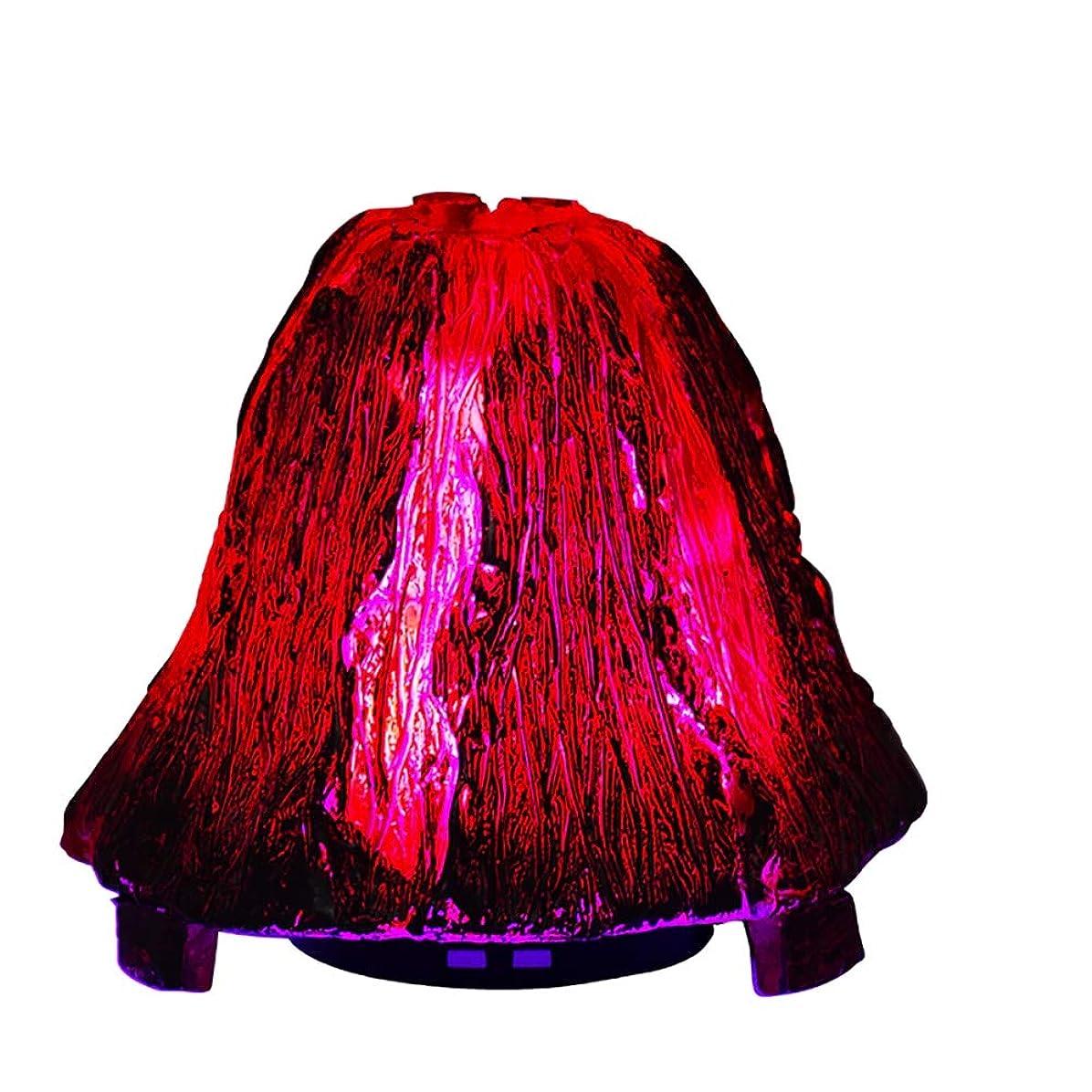 観察する情報白雪姫オリジナリティ火山のエッセンシャルオイルディフューザー、120mlアロマセラピー超音波クールミスト加湿器、7色LEDライト付きウォーターレスオートオフ