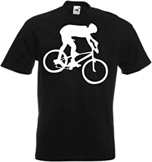 JINTORA Camiseta T-Shirt - Ciclista de montaña - JDM/Die Cut - para Fiesta Carnaval Carnaval Laboral Deportes