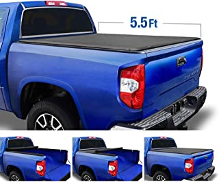 Tyger Auto T1 Roll Up Truck Tonneau Cover TG-BC1T9038 Works with 2007-2013 Toyota Tundra   Fleetside 5.5' Bed   for Models with or Without The Deckrail System