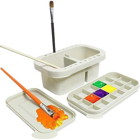 96 Loch Kunststoff-Stiftb/ürstenhalter Art Supply Holder Schreibtischst/änder Pinselhalter f/ür Stifte Pinsel Marker Modellierwerkzeuge