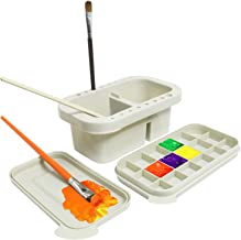 SEA or STAR Paint Brush Basin with Brush Holder Palette and Water Troughs for Indoor and Outdoor Painting