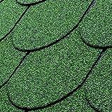 Gartenpirat Tegole bituminose tipo coda di castoro (set 2,1 m²) colore verde