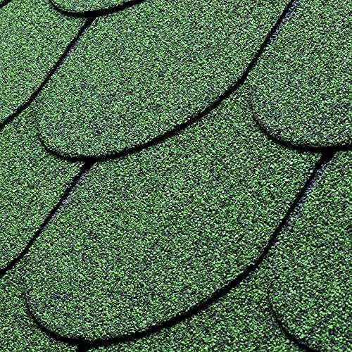 Bardeau bitumé vert en forme de tuile 2,1 m²
