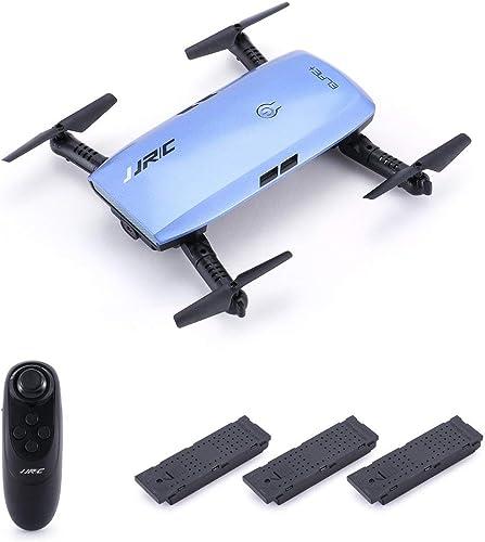 Kongqiabona JJR C H47 Elfie WiFi FPV Drone with 720P HD Camera Altitude Hold Mode Foldable G-Sensor Mini RC Selfie Quadcopter,3 Battery