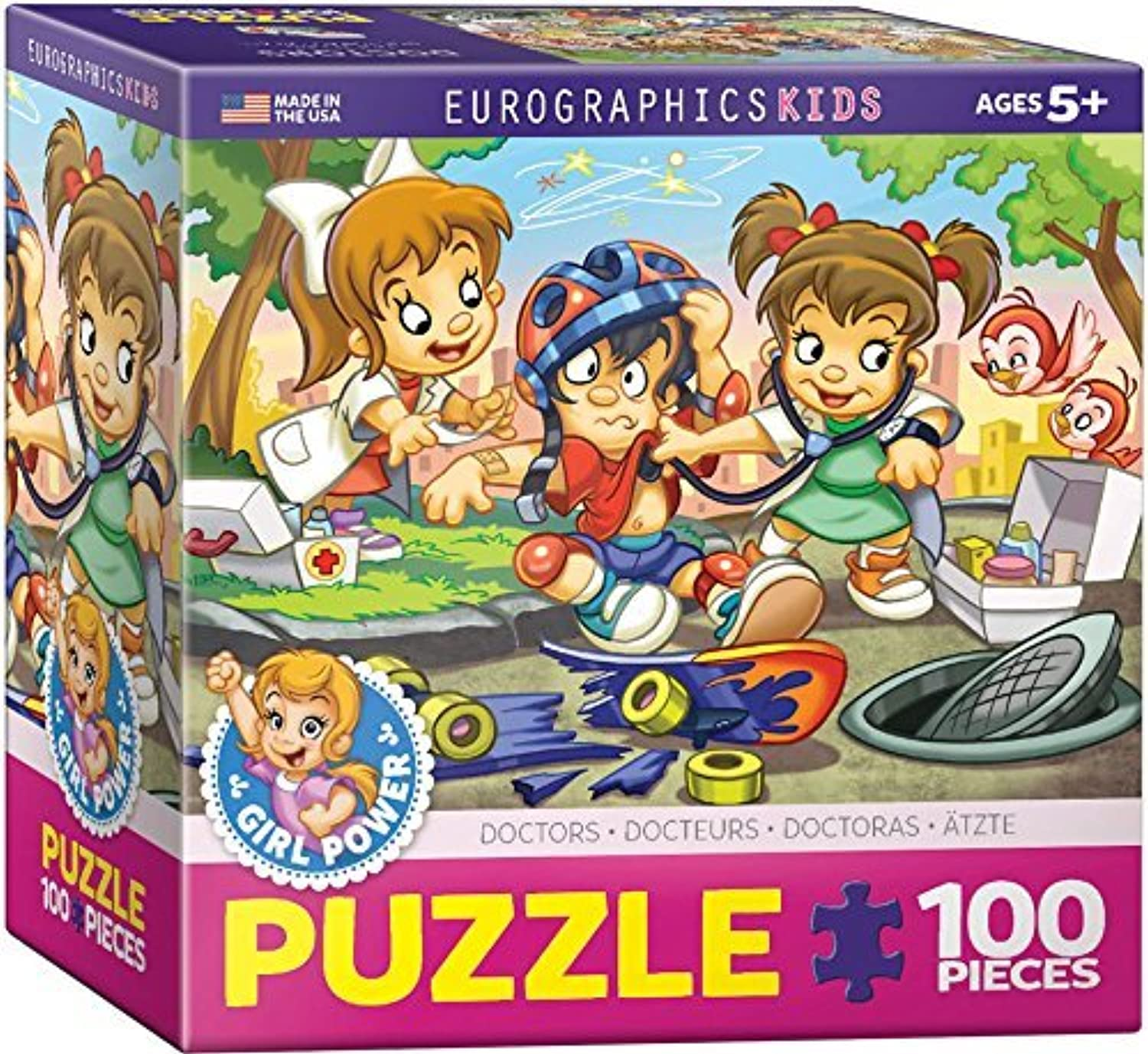 EuroGraphics Girl Power  Doctors Puzzle (100-Piece) by EuroGraphics