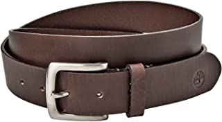 Mens 1.25 Inches Leather Dress Belt Brown