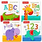 """Fisher-Price """"My First Books Set of 4 Baby Toddler Board Books (ABC Book, Colors Book, Numbers Book, Opposites Book)"""