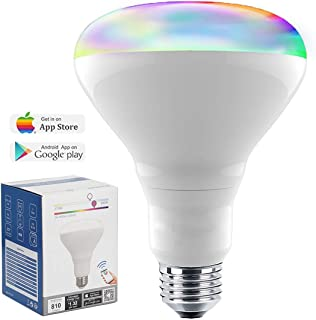 Smart Bulb 13W Color Changing Light Bulb Bluetooth Bright LED Flood Light, 80 Watt Equivalent BR30 Dimmable Wireless Daylight Multicolor Smartphone Controlled Indoor Night Light 2700K-6500K 1100L