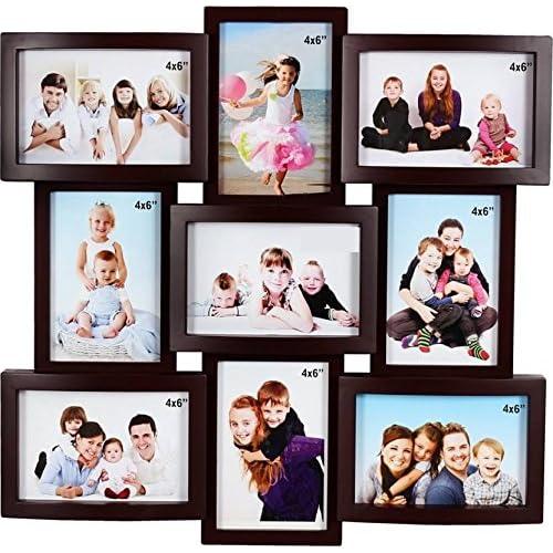 JaipurCrafts Premium Collage Photo Frame (Photo Size - 4 x 6, 9 Photos) (Wooden)
