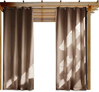 Blackout Outdoor Curtains, Gazebo Curtains Waterproof Thermal Insulated Curtains Garden Patio Gazebo Sunscreen Blackout Cu...