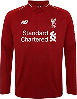 New Balance 2018-2019 Liverpool Home Long Sleeve Shirt (Kids)
