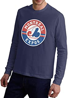 Montreal Expos Man's Fashion Long Sleeves T Shirts