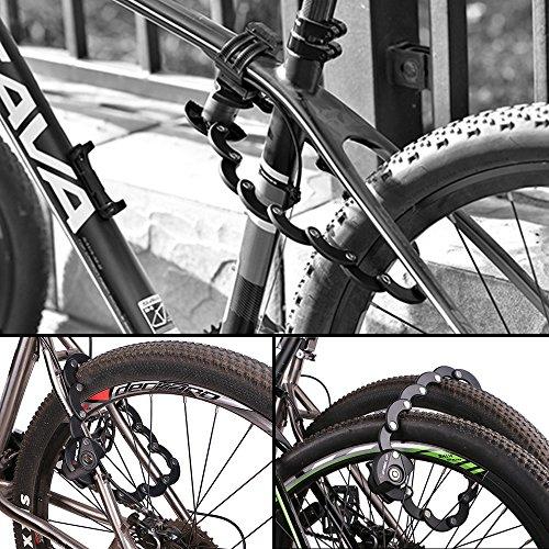 Fahrradschloss Faltschloss mit 3 Tasten - 7