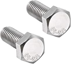 uxcell M8 Thread 20mm 304 Stainless Steel Hex Left Hand Screw Bolts Fastener 2pcs