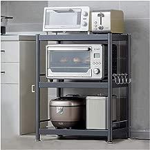 Unidad de estante Estantería metalicas almacenaje Estantería de cubos Estante de Cocina Multi-función Estante de almacenamiento de acero inoxidable horno de microondas estante de almacenamiento-3-8