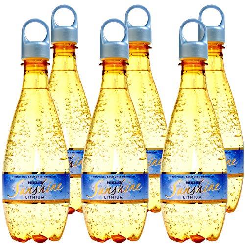 Preblauer Sunshine, natürliches Mineralwasser, Wasser mit Lithium, stimmungsaufhellend, basisch und naturbelassen, 6 x 0.5 l Tray