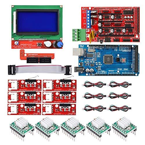 DTOYZ CNC 3D-Drucker-Kit Mit m e g a 2560-Board, Rampen 1.4 Controller, LCD 12864, A4988 Schrittfahrer Für a r d u i n o