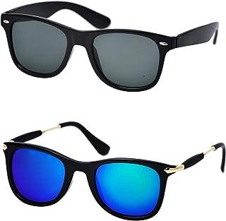 d2efcaadd Xforia Wayfarer Black Square Sunglasses Combo For Men & Women (ack of ...