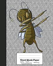 Sheet Music Paper: Dabbing Grasshopper Book Entomology (Weezag Sheet Music Paper Notebook)