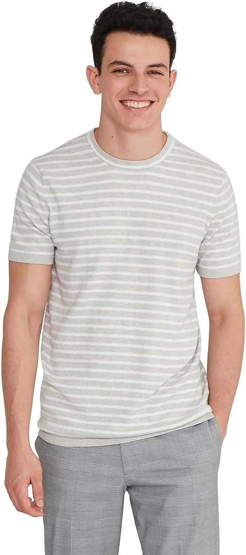 1950s Mens Shirts | Retro Bowling Shirts, Vintage Hawaiian Shirts State Cashmere Mens Crewneck T-Shirt Cotton Cashmere Short-Sleeve Sweater Top  AT vintagedancer.com