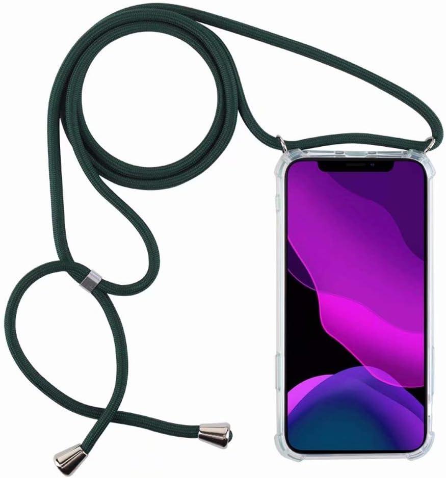 2ndSpring Funda con Cuerda Compatible con Samsung Galaxy A40,Colgante Collar Correa de Cuello Cadena Cord/ón,Azul Rojo
