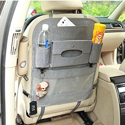 Auto Supplies Voiture Organiseur pour dossier de siège multifonction Sac de rangement, Gray