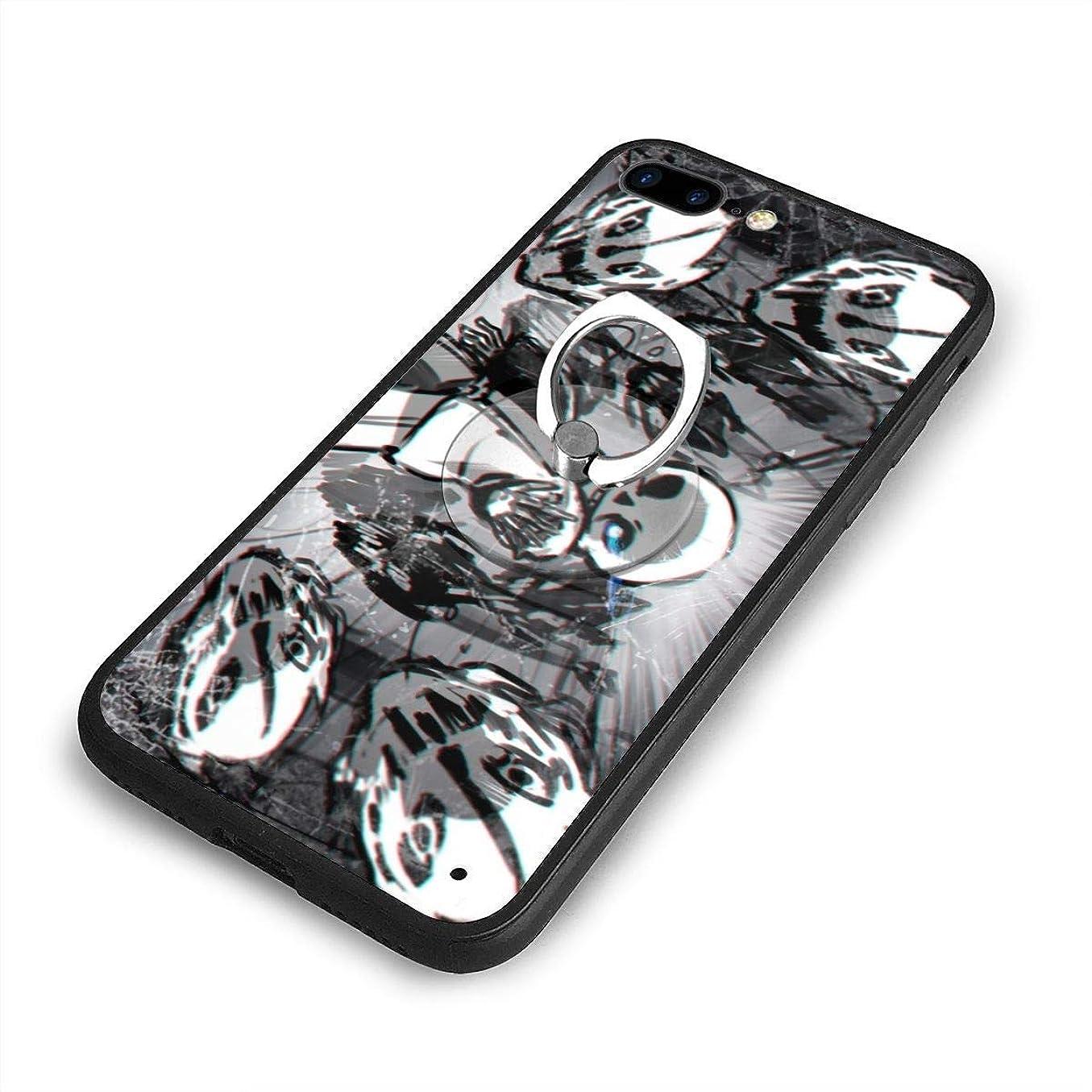 サラミ担保おじさんUndertale SansiPhone 7/8 Plusケースリングブラケット 携帯カバー 創意デザイン軽量 傷つけ防止 360°回転ブラケット 携帯ケース PC 衝撃防止 全面保護