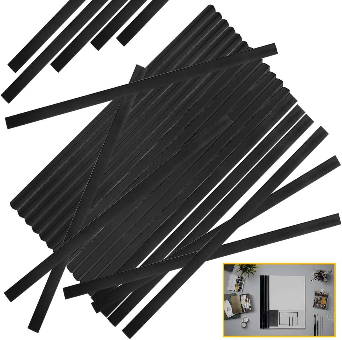 San Antonio Mall YG_Oline 48 Pcs Black Slide Grip Sc Bars for Reservation Binding Spine