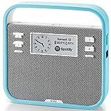 invoxia Tragbarer Smart-Lautsprecher mit Alexa Sprachservice, Blau