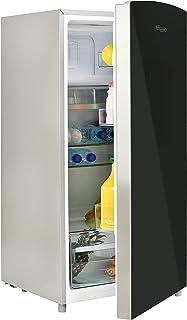 Super General 170 Liter Gross Volume Compact Design-Refrigerator SGR186, Black/Silver, Beverage-Fridge with mirrored Door,...