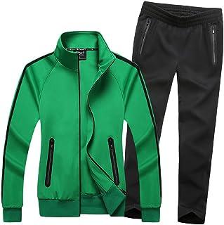 Women's Athletic Full Zip Jogging Sports Tracksuit Casual Sweat Suit Set