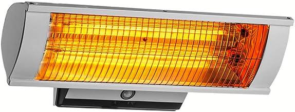 Calefactor por Infrarrojos Radiante,Calentadores y Estufas de Exterior con luz LED de 5W,Uso Interior o Exterior,No Produce Ruido,IP34 a Prueba de Agua,Vida útil 8000H,Control Remoto