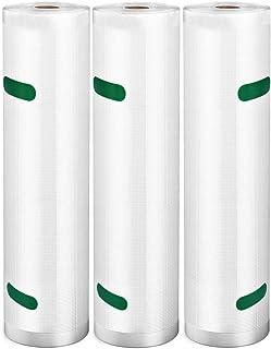 真空パック ロール 28cm*600cm-3本 Vsadey PA+PE素材 真空パック袋 自由にカット 真空パック機専用ロール 専用抗菌袋 鮮度長持ち 食品保存 低温調理 真空包装袋 業務用 家庭用(28*600cm-3本)