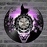 Cheemy Joint DC Universe Batman Bataille Joker Horloge Murale 12 Pouces LED Disque Vinyle, Art intérieur, Cadeau d'anniversaire...