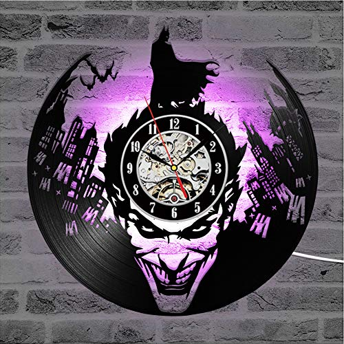 Cheemy Joint Detective Comics Heros Batman Vinyl-Wanduhr LED 12
