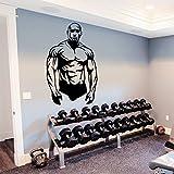 Wall Decal Bodybuilder Sportsman Muscles Sport Decals Interior Design Bedroom...