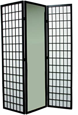 3 4 6 5 8 Panels Room Divider Screen Partition Shoji Style 6 Ft Tall Black 3 Panel