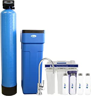 Tier1 Everyday Series 48,000 Grain Water Softener with Under Sink Reverse Osmosis System + Glass Water Bottles