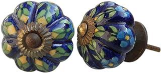 8 pieza de cerámica artesanal Indianshelf naturalezas paleta cajón archivador pomos de puertas armario APARADOR Aparador t...