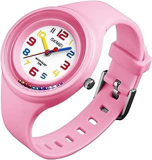 Girls Watches 50M Waterproof Fashion Creative Analog Quartz Wrist Watch for Kids Boys Children Gifts 1386 Pink