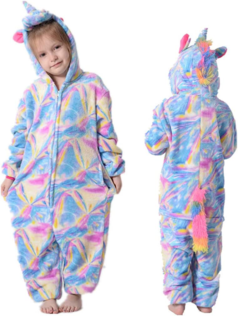 Einhorn Pyjama Jumpsuit Winter Kigurumi Kindernachtw/äsche for Jungen M/ädchen Unicorn Pyjamas Flanell Kinder Unicornio Pijamas Set Tier Winter Baby Body Color : N, Size : 8T