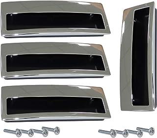 AERZETIX: 4x Tirador para cajón alacena puerta mueble armario para empotrar Lempa cromo 96mm C41362