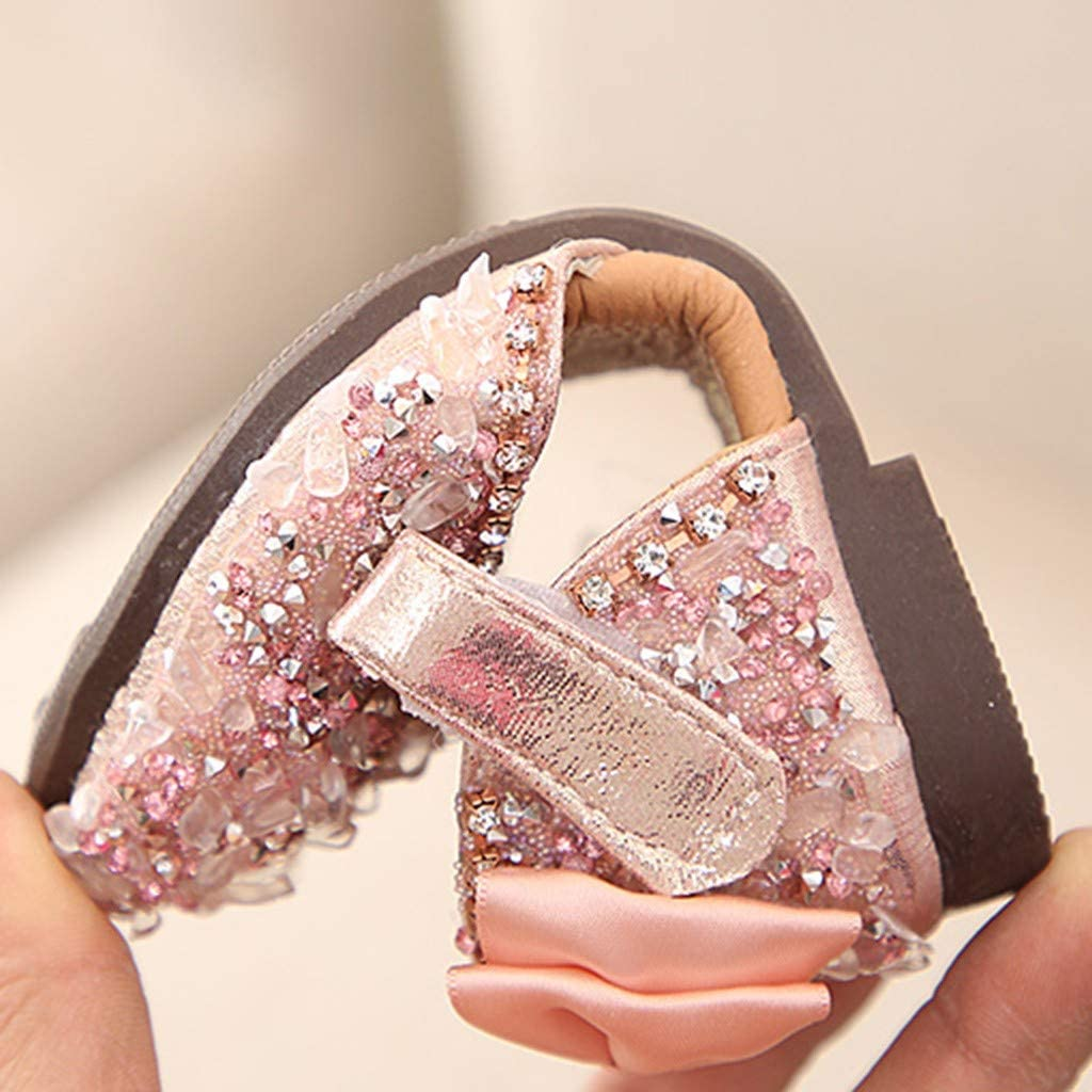 Sandals Kimanli Children Infant Girls Bowknot Crystal Princess Sandals Casual Shoes