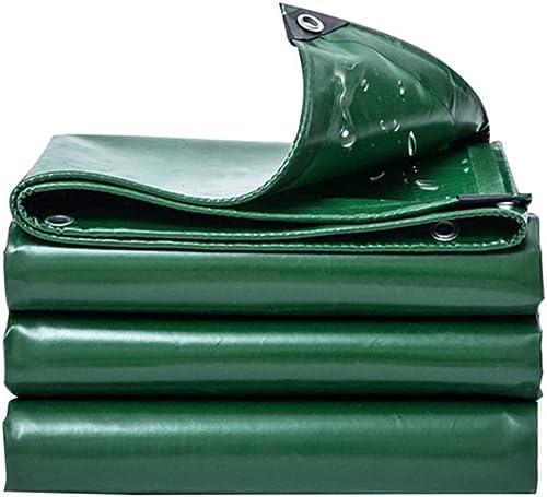 LPYMX Bache de Camping imperméable Double Face étanche à l'humidité de la Cargaison de Camion abri de Jardin en Tissu imperméable à Haute température résistant à l'usure Vert, a, 3  5
