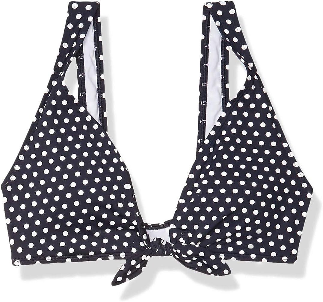 Skye Women's Standard Sophia Deep V Bikini Top Swimsuit with Front Tie Detail