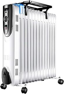 HKDJ-800-2200W Radiador De Aceite,Calentador Portátil Eléctrico,Protección contra Sobrecalentamiento,Calentamiento Rápido,Sin Aletas De Borde Afilado,Diseño Seguro