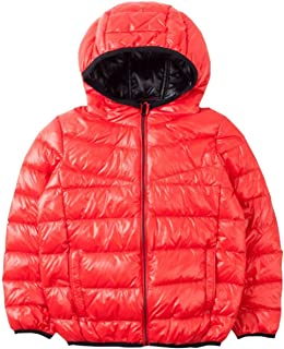 Spring&Gege Boys' Quilted Packable Hoodie Lightweight Puffer Jacket Windproof Outwear Children Warm Duck Down Coat