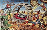 BOIPEEI Rompecabezas Rompecabezas Vintage Salters Heroes Secret Wars Doom Roller 100 Piezas Rompecabezas Totalmente entrelazados