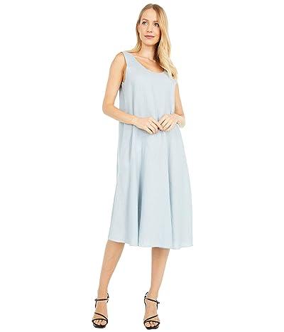 Eileen Fisher Petite Scoop Neck Knee Length Dress (Dawn) Women