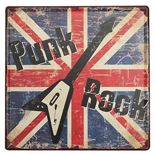 Bluelover Punk Rock Tin Signo Vintage Metal Placa Cartel Bar Pub Casa Decoración De La Pared